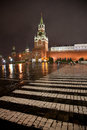 Red square crosswalk on the in moscow Stock Photo