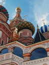Red square moscow russia the dome of st basil s cathedral in sunny day Royalty Free Stock Photo