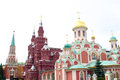 Red square in moscow russia the famous Stock Image
