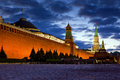Red square night view at in moscow russia Royalty Free Stock Photography