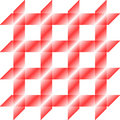 Red square pattern, seamless tile, vector Stock Photo