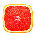 Red square slice of orange Royalty Free Stock Image