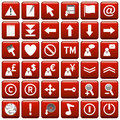 Red Square Web Buttons [2] Stock Image