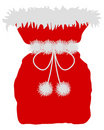 Red St Nicholas bag Royalty Free Stock Image