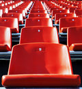 Red stadium seats Stock Image