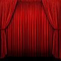 Red Stage Curtain Royalty Free Stock Photography