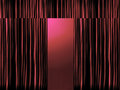 Red Stage Curtains With Spotlight Stock Photos