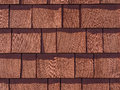 Red Stained Cedar Shingles Royalty Free Stock Photo
