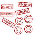 Red stamps collection Royalty Free Stock Images