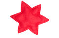 Red star of cloth Stock Photos
