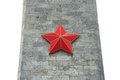 Red star on the obelisk of gray stone Stock Photo