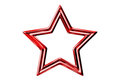 Red star on the white background Royalty Free Stock Photos