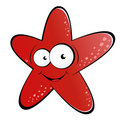 Red starfish cartoon Royalty Free Stock Image