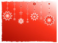 Red stars decoration Stock Photography