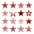 Red stars set of Royalty Free Stock Photography