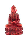 Red statue of budha front Royalty Free Stock Photo