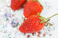 Red stawberry on dimond Stock Photo