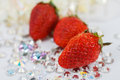 Red stawberry on dimond Royalty Free Stock Photos
