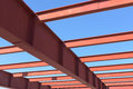 Red of steel girder. Royalty Free Stock Photo