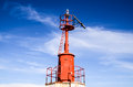 The red steel lighthouse near sottomarina venice Stock Photography