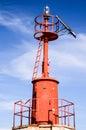 The red steel lighthouse near sottomarina venice Royalty Free Stock Photos