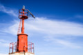 The red steel lighthouse near sottomarina venice Royalty Free Stock Photo