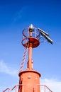 The red steel lighthouse near sottomarina venice Stock Photos