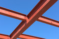 Red of steel structure. Royalty Free Stock Photo