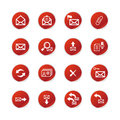 Red sticker  e-mail icons Royalty Free Stock Images