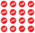 Red Sticker Set Royalty Free Stock Photography
