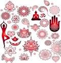 Red stickers - Buddhism, Buddha, mandala