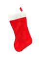 Red stocking christmas isolated on white Stock Image