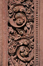 Red stone carving Stock Photography