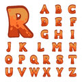 Red stone game alphabet for user interfaces Stock Images