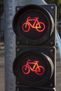 Red Stop Cycle Traffic Light Royalty Free Stock Photo