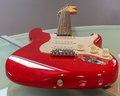 Red stratocaster electric guitar Stock Photos