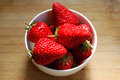 Red strawberry in a bowl very fresh Stock Photography