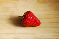 Red strawberry on a chopping board very fresh Stock Image