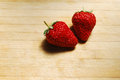 Red strawberry on a chopping board very fresh Royalty Free Stock Photography