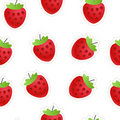 Red strawberry seamless background Royalty Free Stock Photography