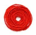 Red string circle