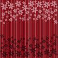 Red striped with  flowers Royalty Free Stock Images