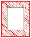 Red striped frame with green border Stock Photography