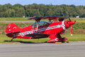 Red stunt plane Royalty Free Stock Photo