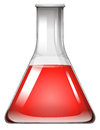 Red substance in glass beaker