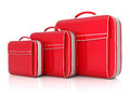 Red suitcase Royalty Free Stock Image