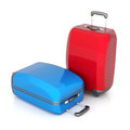 Red suitcase Stock Image