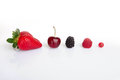 Red summer fruits, Royalty Free Stock Photo