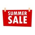 Red Summer Sale Sign - illustration