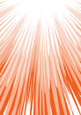 Red sun beam Royalty Free Stock Image